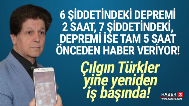Çılgın Türkler iş başında: Depremi saatler öncesinden haber veriyor!