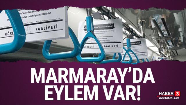 Marmaray'da eylem var! Üniversitelilerden deprem vergileri nerede eylemi