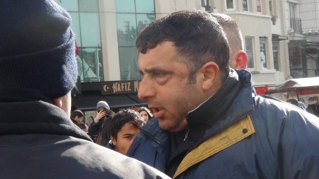 Taksim'i birbirine kattı ! Turiste meydan dayağı