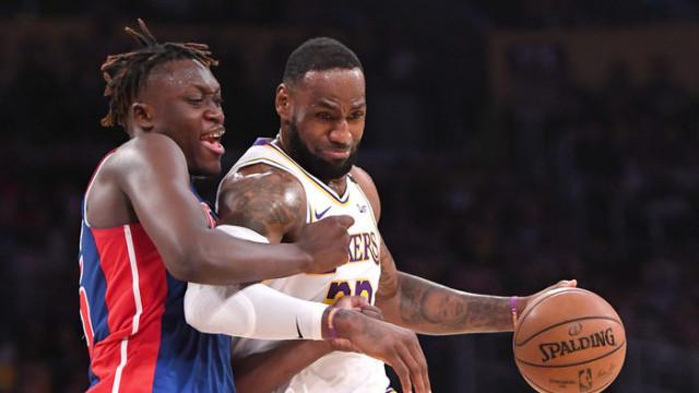 Los Angeles Lakers-Detroit Pistons: 106-99 (LeBron James triple-double yaptı)