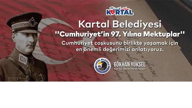 Kartal Belediyesi'nden ''Cumhuriyet'in 97. Yılına Mektuplar'' etkinliği