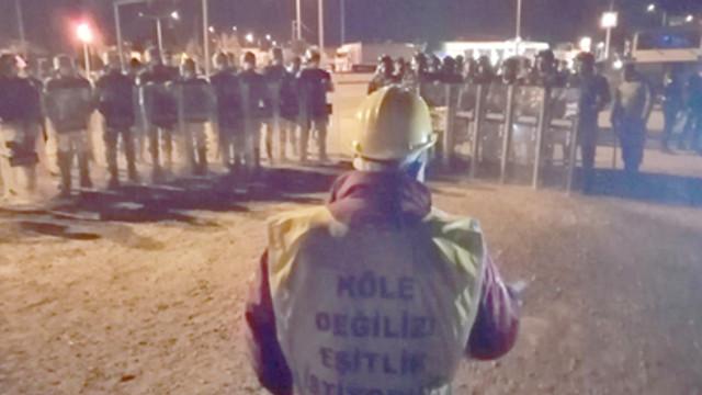 Maden işçileri gözaltında