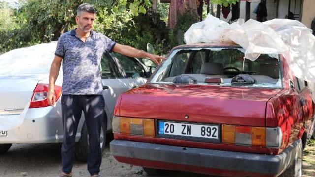 Doluda araçları zarar görenler, tamircilere akın etti