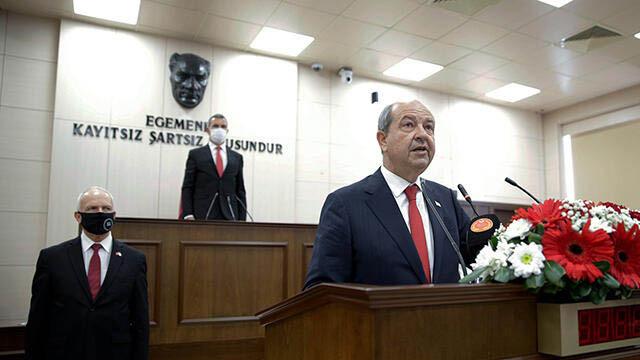 KKTC'de Cumhurbaşkanı Tatar görevine başladı!
