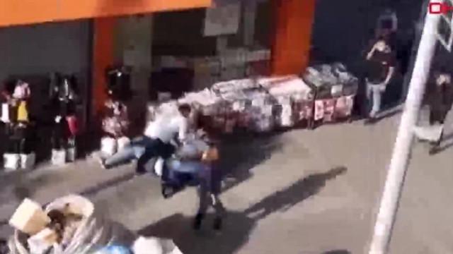 İstanbul'da hırsızlık girişimine suç üstü kamerada