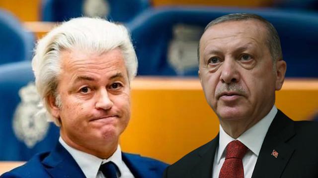 İslam düşmanı Wilders, Erdoğan'a ''terörist'' dedi!
