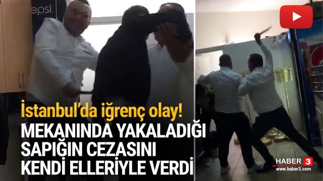 İstanbul'da tacizciye sopalı dayak! O anlar kamerada
