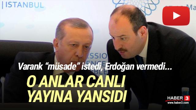 Erdoğan ''müsade'' etmedi, Bakan Varank'ın sesi kısıldı!