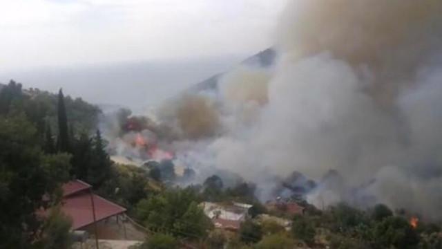 Mersin'de yerleşim yeri yakınında orman yangını