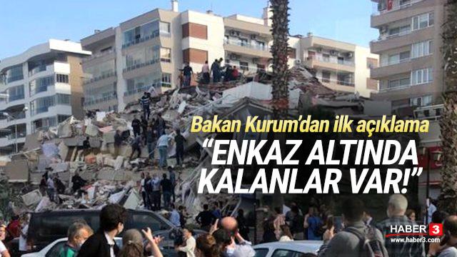Bakan Kurum'dan ilk açıklama: Enkaz altında kalanlar var