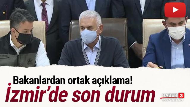 Bakanlardan ortak açıklama! İzmir depreminde son durum