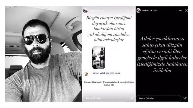 Mehmet Akif Alakurt bu sefer de ölümle tehdit etti