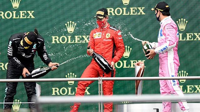 Formula 1'deki gazozlu kutlama için Saray'dan açıklama