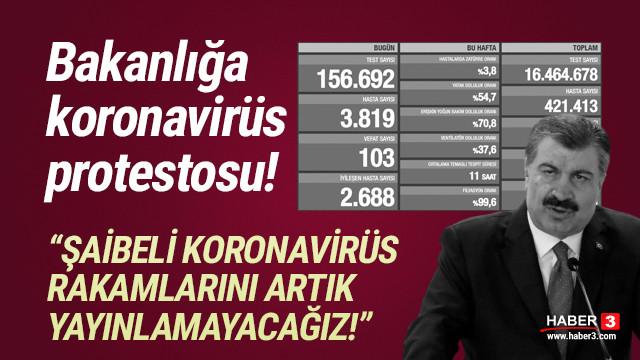 Bakanlığa şok protesto: 'Şaibeli koronavirüs rakamlarını yayınlamayacağız'
