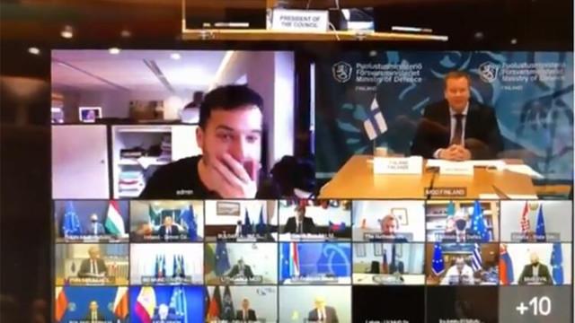 Savunma bakanlarının gizli toplantısına sızan gazeteci olay yarattı