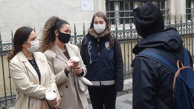 Maske denetlemesinde kadın turiste gözaltı