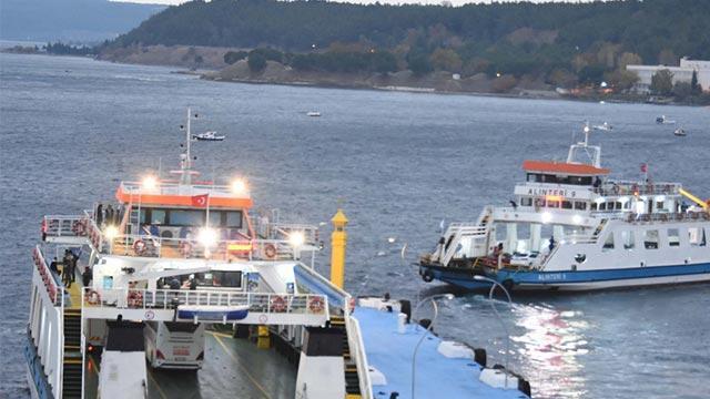 Deniz ulaşımına fırtına engeli: Feribot seferleri iptal edildi