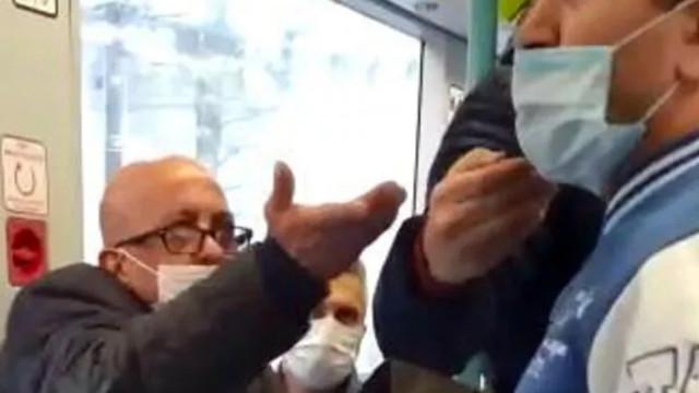 İstanbul'da tramvayda maske kavgası