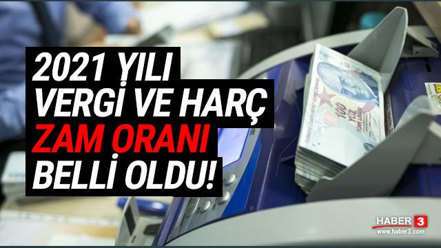 Zam'aydın Türkiyem! 2021 yılı vergi ve harçların zam oranı belli oldu