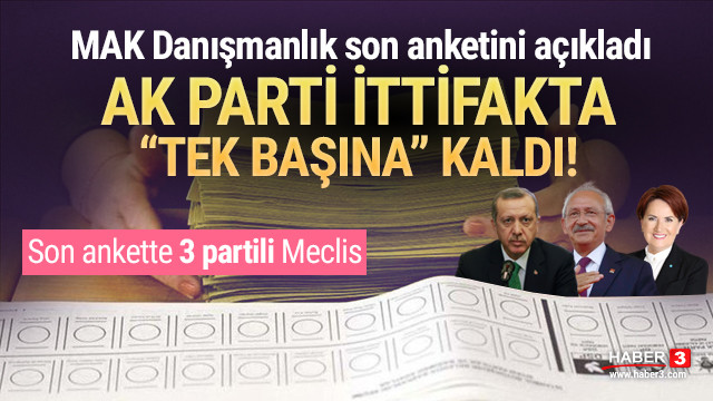 MAK Danışmanlık son anketini açıkladı: Barajı sadece 3 parti geçebiliyor!