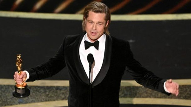 Oscar alan Brad Pitt'den Trump'a gönderme