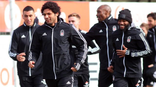 Beşiktaş'ta neşeli antrenman