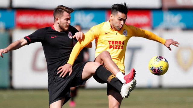 Galatasaray'da Radamel Falcao takımla çalıştı