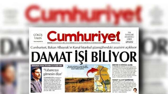 Cumhuriyet muhabirine Kanal İstanbul soruşturması