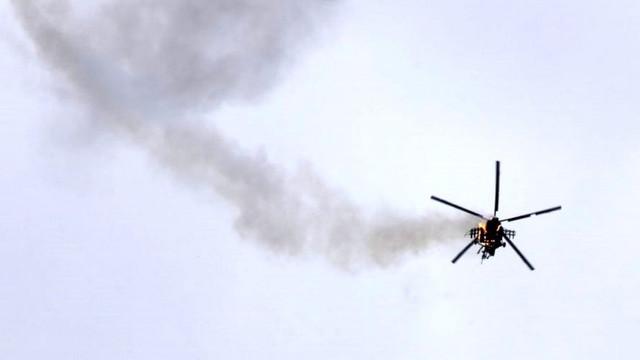 Suriye düşürülen helikopterle ilgili Türkiye'yi suçladı
