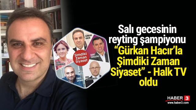 ''Gürkan Hacır'la Şimdiki Zaman Siyaset'' reytinglerde yine zirveye oturdu