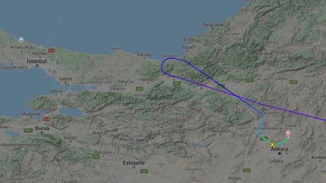 Virüs taşıdığı iddia edilen uçak İstanbul'un kıyısından döndü!