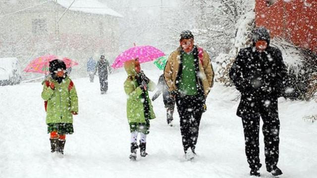 Eğitime kar engeli ! 32 ilde okullar tatil edildi !