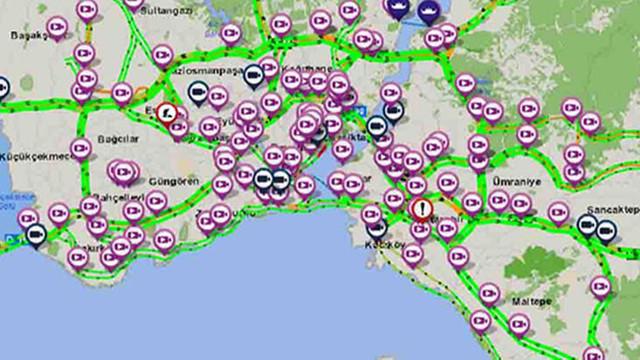 İstanbul'da her yer yemyeşil ! İşte son trafik yoğunluğu...