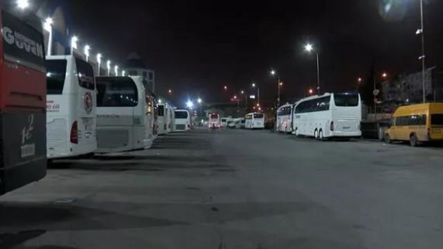 Otogarlardan otobüslerin çıkışlarına izin verilmedi!