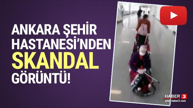 Ankara Şehir Hastanesi'nde skandal görüntüler!