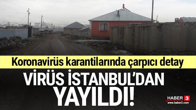 Koronavirüs karantinalarında İstanbul detayı