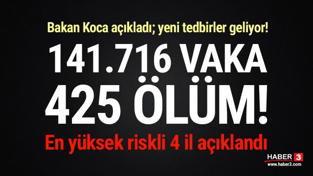 Bakan Koca açıkladı; ölü sayısı 425'e yükseldi, yeni tedbirler geliyor!