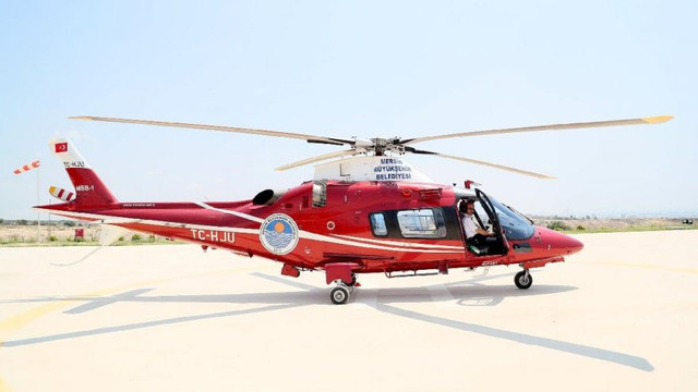 CHP'li başkan ''israf helikopteri''nden kurtuldu