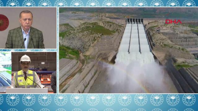 Erdoğan Ilısu Barajı'nın açılışında konuştu: Kendi halkına silah çekenlere en güzel cevap