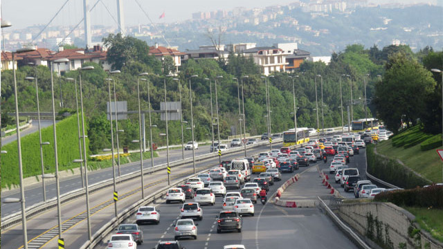 15 Temmuz Şehitler Köprüsü'nde trafik yoğunluğu
