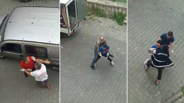 Sokağa çıkma yasağında birbirlerine girdiler!