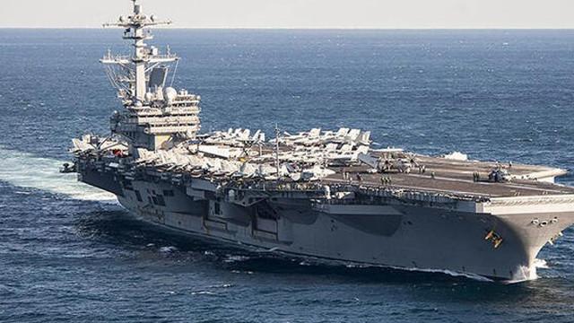 ABD'denin uçak gemisi tekrar denize açıldı