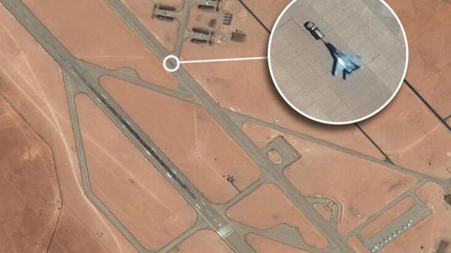Libya'daki Rus savaş uçağı böyle görüntülendi