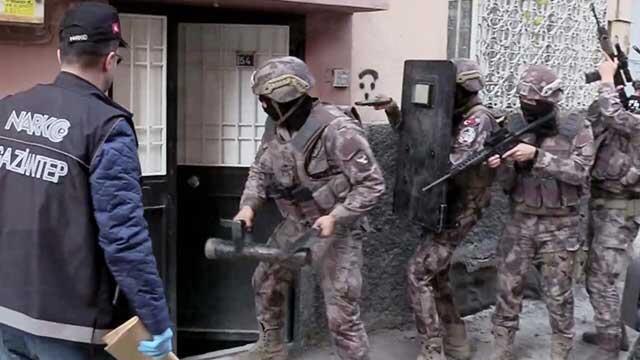 Gaziantep'de büyük uyuşturucu operasyonu: 17 gözaltı