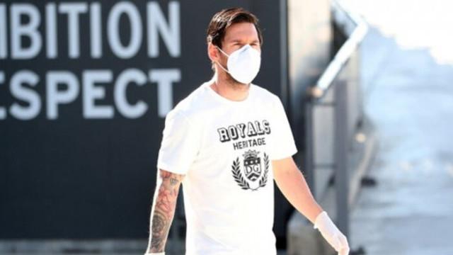 Messi'nin maskeli hali görenleri şaşırttı