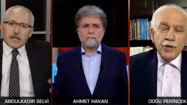 Ahmet Hakan'ın zor anları: Perinçek ile Abdulkadir Selvi birbirine girdi!