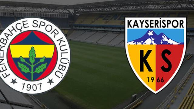 Fenerbahçe-Kayserispor maçının ilk 11l'eri belli oldu