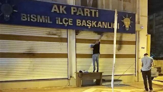 AK Parti ilçe başkanlığı binasına molotoflu saldırı