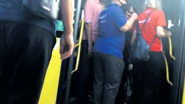 Metrobüs sapığı kadın polisi taciz etti!