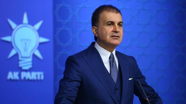 AK Parti Sözcüsü Ömer Çelik: ''Ahlaksız iftiranın arkasına saklanıyordur''